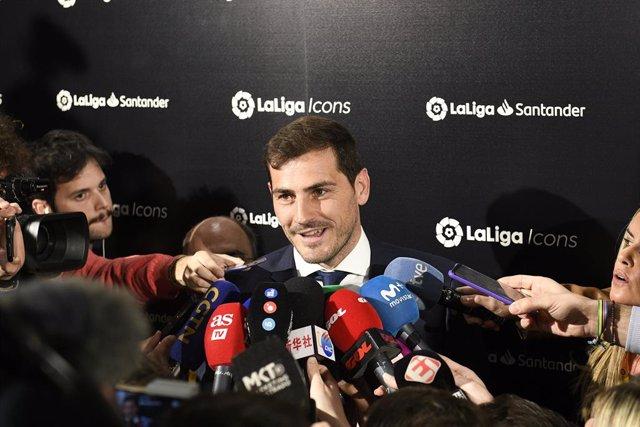 Archivo - El portero Iker Casillas, presentado como embajador de LaLiga Icons