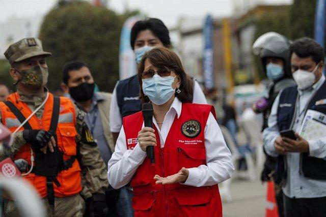 Archivo - La exministra de Salud de Perú, Pilar Mazzetti