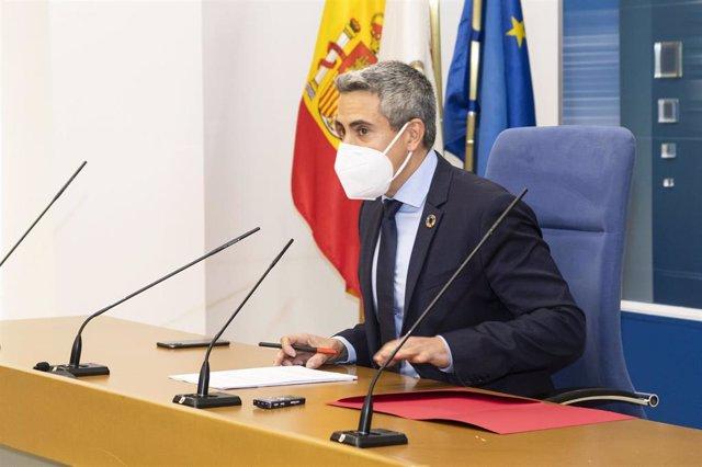 Archivo - El vicepresidente, Pablo Zuloaga, en una rueda de prensa.