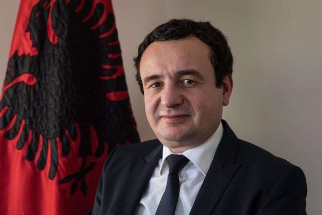Archivo - Albin Kurti, líder del Movimiento Vetevendosje, Autodeterminación, de Kosovo
