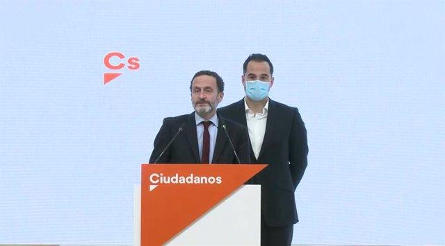 Edmundo Bal, junto al exvicepresidente de la Comunidad de Madrid, Ignacio Aguado