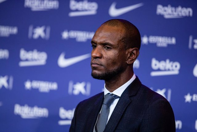 Archivo - Eric Abidal during the presentation of Quique Setien as a new coach of FC Barcelona with contract till 30th of June of 2022 at Camp Nou Stadium on January 14, 2020 in Barcelona, Spain.