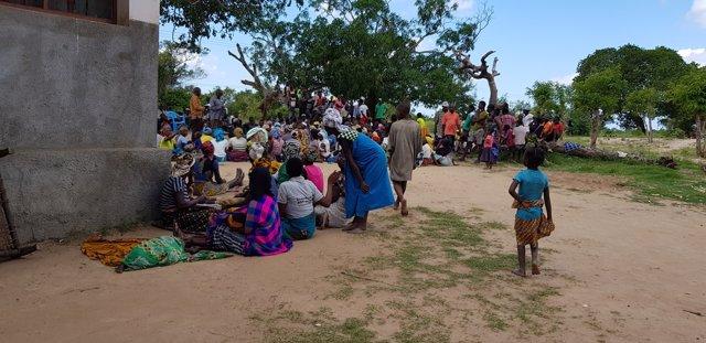 Archivo - Desplazados en Cabo Delgado tras el paso del ciclón Kenneth