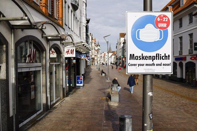Una calle en Alemania durante la pandemia de coronavirus