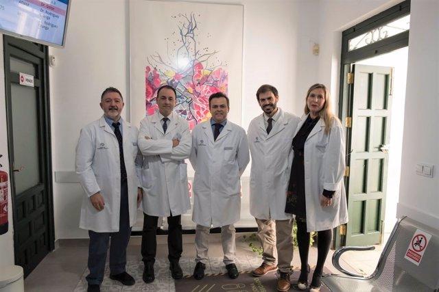 Responsables del servicio de neurología, neuropsiquiatría y neuropsicología del Centro de Neurología Avanzada (CNA), presente en Málaga, Sevilla, Huelva y Cádiz.