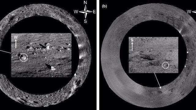 Rocas analizadas por el rover de la misión Chang'e 4