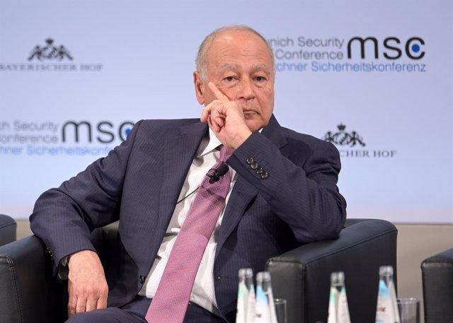 Archivo - El secretario general de la Liga Árabe, Ahmed Abul Gheit