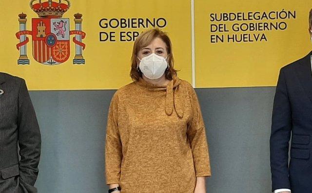 Archivo - La delegada del Gobierno en Andalucía, Sandra García, en Huelva. (Foto de archivo).
