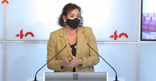 Archivo - Arxiu - La portaveu del PSC al Parlament, Alícia Romero, en una conferència de premsa a la cambra catalana.