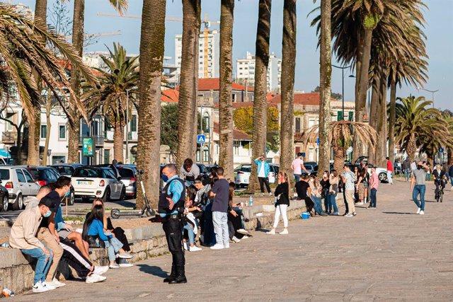 Vigilancia policial en Oporto