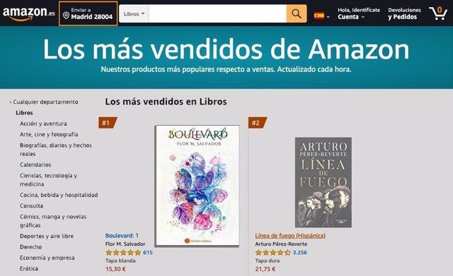 Boulevard. El libro más vendido de Amazon sin stock