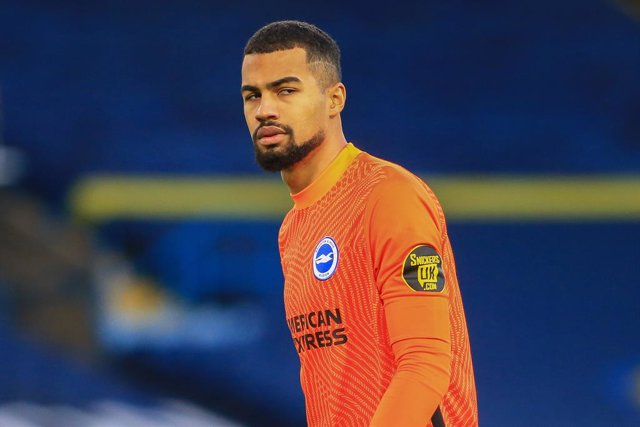 Archivo - Robert Sanchez (26) of Brighton during the English championship Premier League football match between Leeds United and Brighton and Hove Albion on January 16, 2021 at Elland Road in Leeds, England - Photo Jez Tighe / ProSportsImages / DPPI