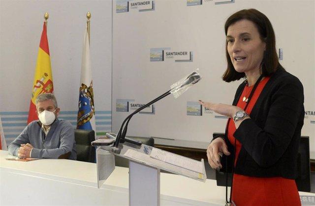 La alcaldesa de Santander, Gema Igual, en la presentación del II Plan de Choque