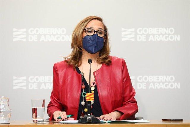 La consejera de Presidencia y Relaciones Institucionales del Gobierno de Aragón, Mayte Pérez.