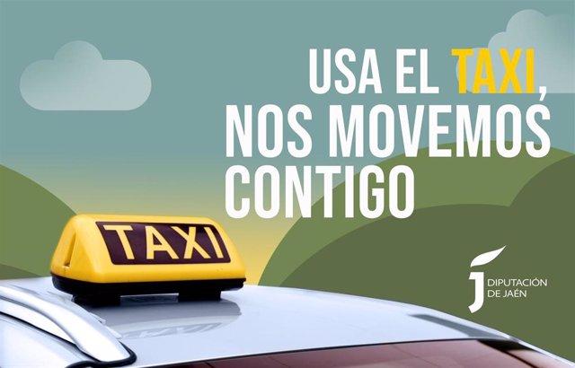 Archivo - Cartel de la campaña para fomentar el uso del taxi.