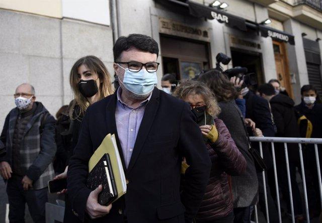 El diputat d'ERC Joan Josep Nuet arriba al Tribunal Suprem. Madrid (Espanya), 24 de març del 2021.