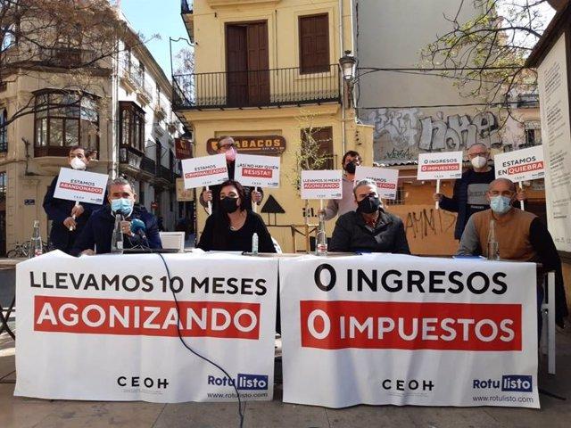 Rueda de prensa del ocio nocturno de la Comunidad Valenciana