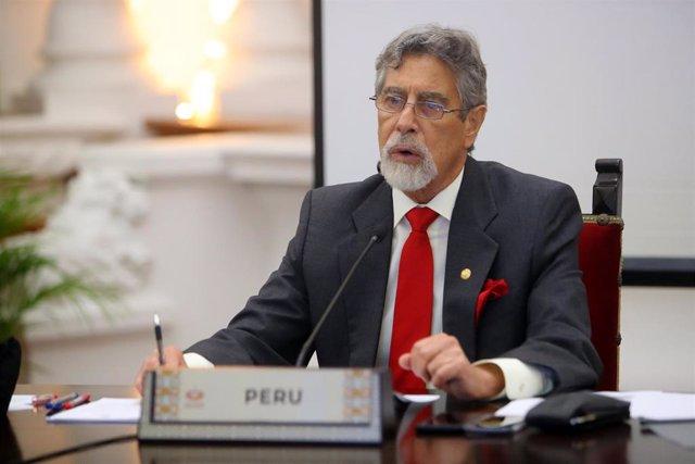 Archivo - Francisco Sagasti, presidente de Perú.