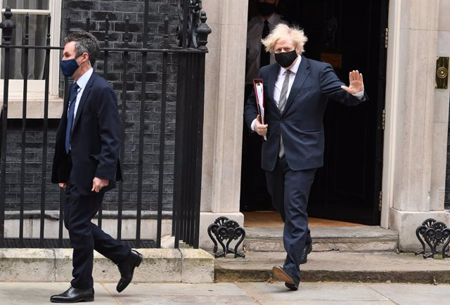 24 March 2021, United Kingdom, London: UK Prime Minister Boris Johnson leaves 10 Downing Street to attend Prime Minister's Questions session at the House of Commons. Photo: Stefan Rousseau/PA Wire/dpa