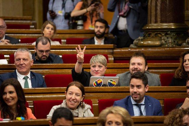 Archivo - Arxiu - Els diputats de Cs en una sessió plenària al Parlament de Catalunya.