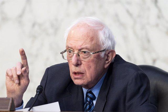 17 March 2021, US, Washington: USSenator and chairman of the Senate Budget Committee, Bernie Sanders, speaks at the hearing of the Senate Budget Committee. Photo: Michael Brochstein/ZUMA Wire/dpa