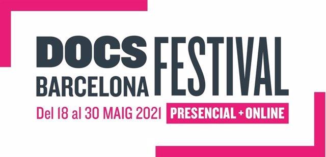 Cartell del Festival DocsBarcelona, que celebrarà una edició híbrida del 18 al 30 de maig a Barcelona i a través de Filmin.