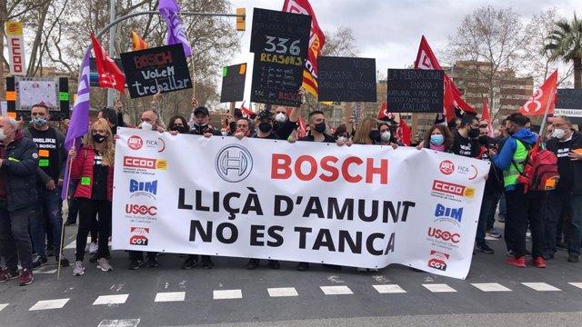 Concentració de treballadors de Bosch