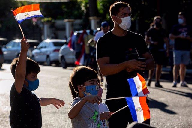Manifestación en Paraguay