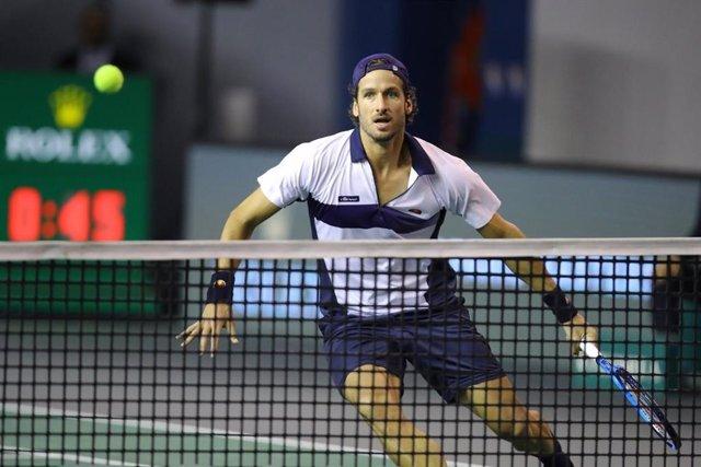 Archivo - El tenista español Feliciano López durante un partido