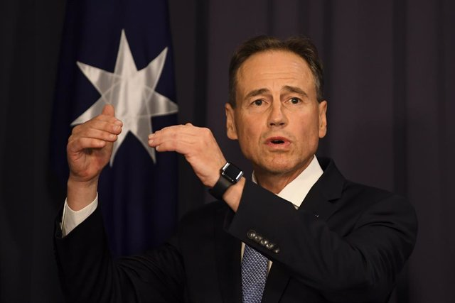 Greg Hunt, ministo de Sanidad australiano.