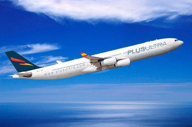 Archivo - Nuevo avión de Plus Ultra Líneas Aéreas