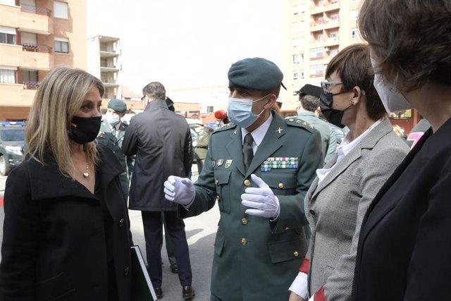 Homenaje al jefe del GAR, Jesús Gayoso, en Logroño, un año después de su fallecimiento por Covid-19