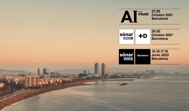 Cartell de l'AI and Music Festival, SónarCCCB i Sónar 2022