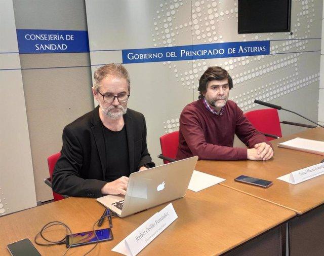 Archivo - El jefe del Servicio de Vigilancia Epidemiológica de la consejería de Salud, Ismael Huerta, y el Director general de Salud Pública asturiano, Rafael Cofiño, informan sobre el estado del coronavirus en el Principado.