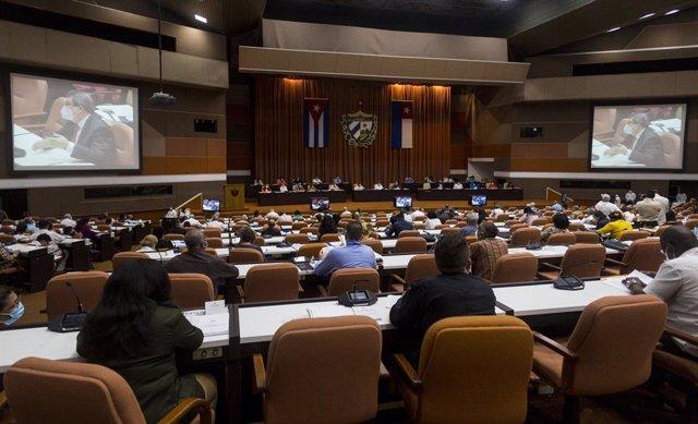 Archivo - Reunión de la Asamblea Nacional de Cuba