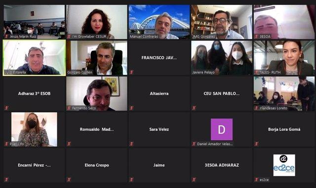 Encuentro 'on line' de empresarios con alumnos del programa de educación en emprendimiento Im Growlaber que organizan Cesur y ec2ce.
