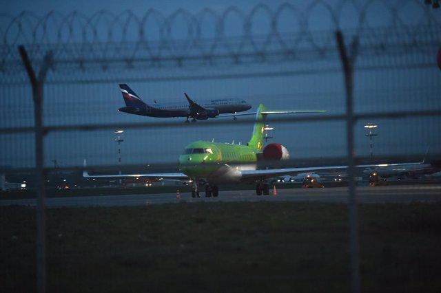 Archivo - Aeropuerto de Sheremetyevo en Rusia