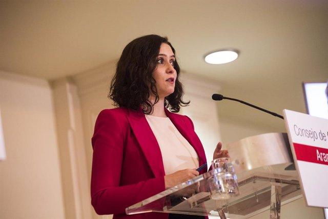 La presidenta de la Comunitat de Madrid, Isabel Díaz Ayuso (Arxiu)