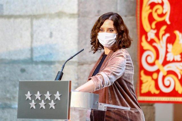 Archivo - La presidenta de la Comunidad de Madrid, Isabel Díaz Ayuso