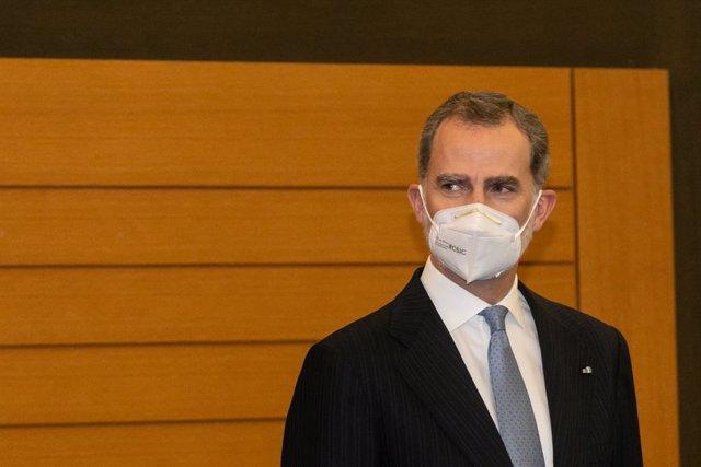 El Rey Felipe VI en Andorra la Vella (Andorra), a 25 de marzo de 2021. Los Reyes retoman este jueves su agenda internacional tras más de un año sin viajar al extranjero por la pandemia y lo hacen con una visita de Estado histórica a Andorra, ya que nunca