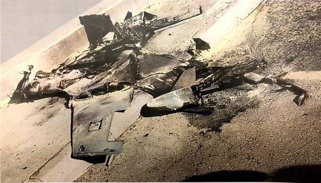 Archivo - Dron derribado en Arabia Saudí