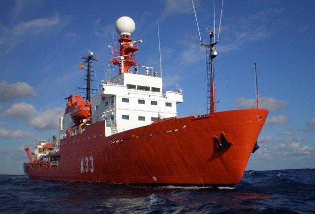 """El buque de investigación oceanográfica (BIO) """"Hespérides"""""""