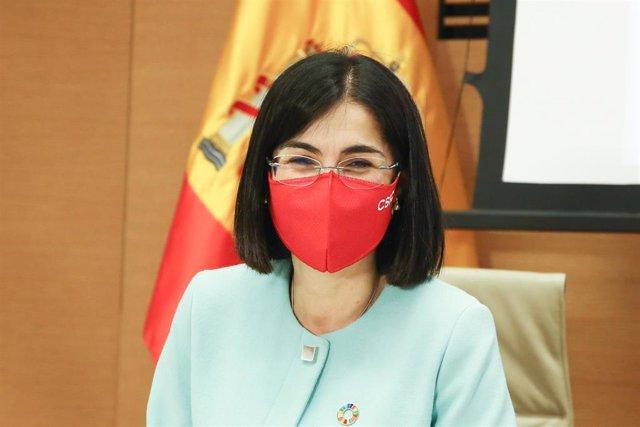 La ministra de Sanidad, Carolina Darias,