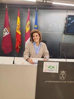Rosario Velasco, concejala de Vox en el Ayuntamiento de Albacete