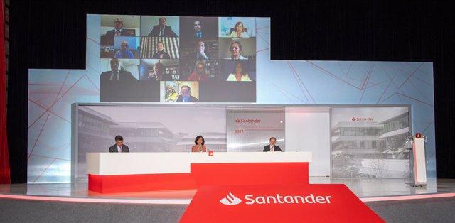 Junta general ordinaria de accionistas de Banco Santander de 2021.