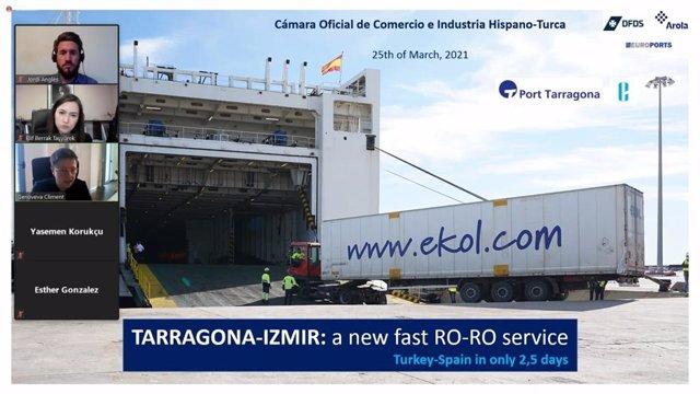 El Port de Tarragona presenta una nova ruta RO-RO amb Turquia ala Cambra Hispano-Turca.