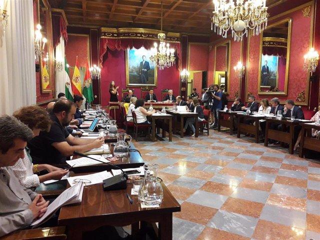 Archivo - Pleno del Ayuntamiento de Granada, en imagen de archivo