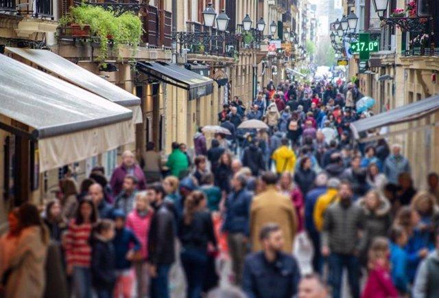 Una calle en San Sebastián. /