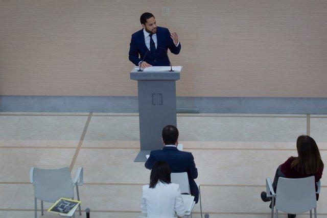 Intervenció del president de Vox a la cambra, Ignacio Garriga.