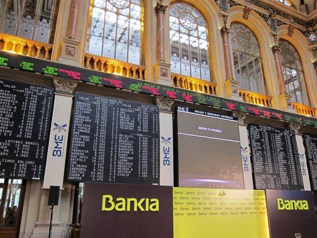 Archivo - Fotografía del debut en Bolsa de Bankia en julio de 2011.